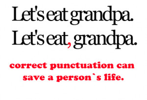 comma, correct, grampa, photography, punctuation, quote