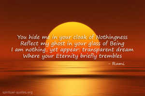 Spiritual quote by Rumi