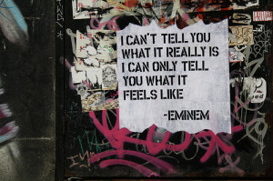 eminem, feel, love the way you lie, quote, rihanna, text