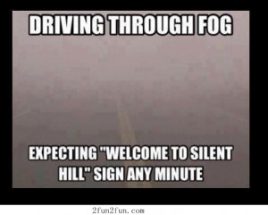 Driving through fog