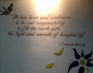 Hospitality Quote by Conrad Hilton at Conrad Centennial Singapore