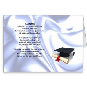 Graduation - Daughter Poem Greeting Card