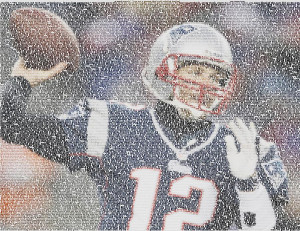 Tom Brady Quotes Mosaic Drawing