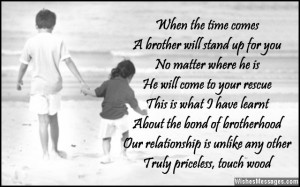 Poem about the love between brothers