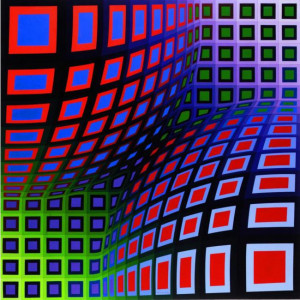 Victor Vasarely >> OND-II-VA | (Oil, artwork, reproduction, copy ...