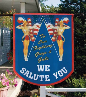 Military Flag A pair of majorettes pay tribute to those who defend our ...
