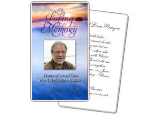 prayer card template courtesy of The Funeral Program Site can be ...
