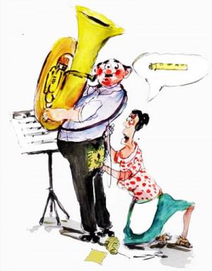 do you raise the town s iq shoot the tuba player