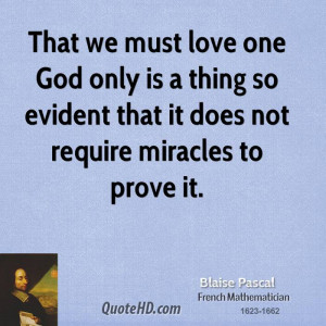 Blaise Pascal Quotes About God
