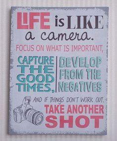 Life metaphor. More