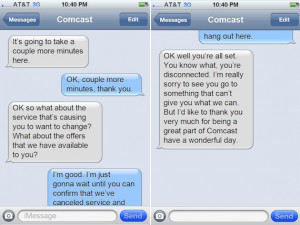 If You Put That Comcast Break-Up Call In Text Message Format ...