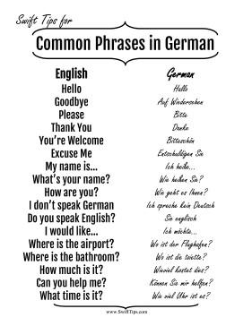 english and german relationship