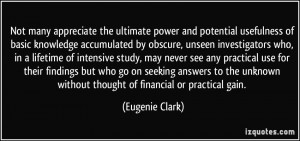 Not many appreciate the ultimate power and potential usefulness of ...
