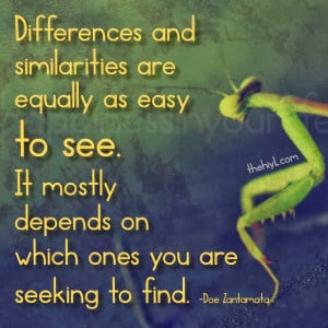 Differences and similarities are equally as easy to see. It mostly ...