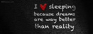 sleeping quotes Facebook cover photo for timeline in HD quality. Quote ...