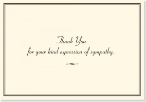 Sympathy Thank You Notes (Stationery, Note Cards)