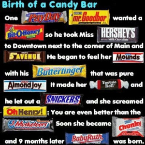 ... of the candy bars out! Winner gets all the candy bars mentioned