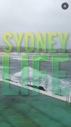 Sydney Life Snapchat Story on April 19th, 2015   Wojdylo Social Media