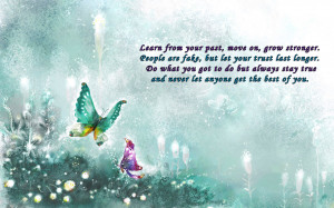 Moving on inspirational quote purple blue HD Wallpaper