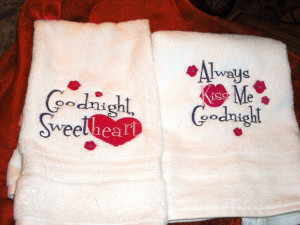 ... good night terry towels are from Embroidery Library. I love purple and