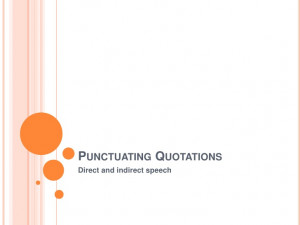 Punctuation And Quotations 2