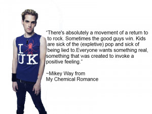 Mikey Way quote1 by IamRinoaHeartilly
