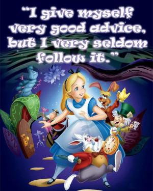 Disney Alice in Wonderland Quote