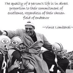 Green Bay Packers vinc lombardi, word of wisdom, football, bays ...