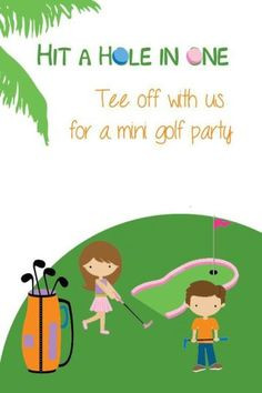 Miniature Golf Theme Birthday Party #party #birthday #decoration # ...