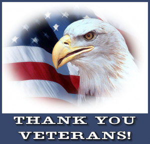 To All Veterans. My thanks to you today and every day. You know who ...