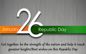 26 January Happy Republic Day of India with Greetings Quote HD Photo