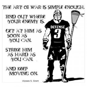 CafePress > Wall Art > Posters > Lacrosse USG Quote 2 Poster