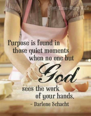 Purpose. Doing everything as though doing it for the Lord, not for man ...