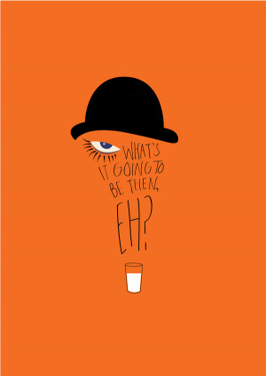 Clockwork Orange Poster Minimalist
