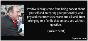 feelings come from being honest about yourself and accepting your ...