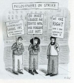 Roz Chast, Philosophers on Strike, New Yorker Cartoon Hahaha logically ...