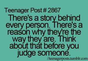 Think before you judge someone