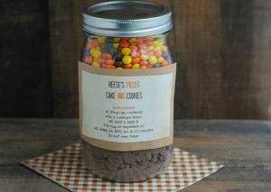 12 Days of DIY Gifts in a Jar: Reese's Pieces Cookies in a Jar