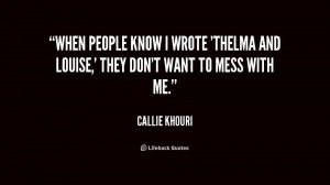 Callie Khouri