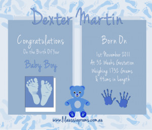 Quotes for Baby Boy Birth Announcement