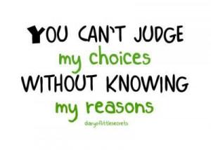 Don't judge...