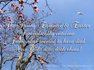 The spring equinox and Easter.