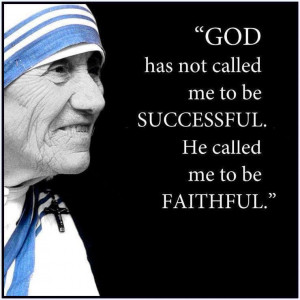Quote on being faithful