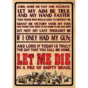 Let Me Die In Pile of Empty Brass 12x17 Tin Warning Sign - Rivers Edge