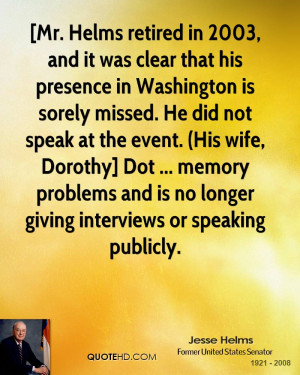 Jesse Helms Wife Quotes