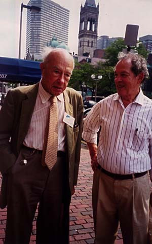 With Willard Van Orman Quine in Boston Aug 1998 for 20th World