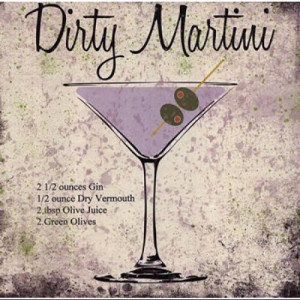 Dirty Martini Poster Print by Louise Carey (8 x 8)