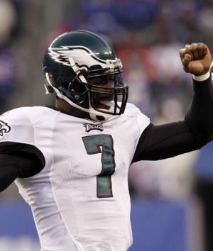 Philadelphia Eagles' quarterback Michael Vick celebrates after ...