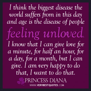 Feeling unloved quotes, princess Diana quotes, suffer quotes