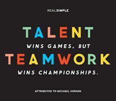 ... teamwork wins championships.